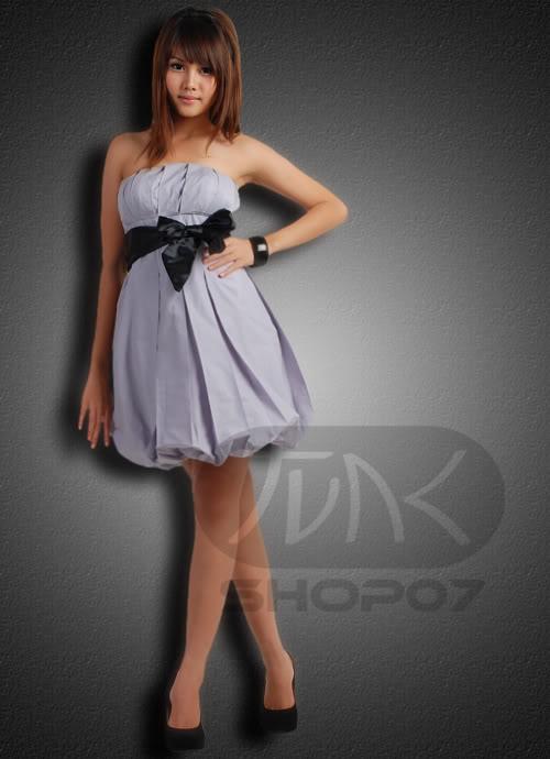 Szara sukienka bombka