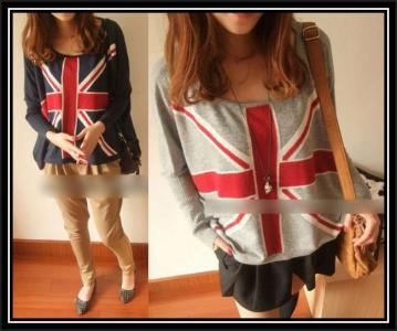 92601 Bluzka Bluza Sweterek Britain UK Japan Style