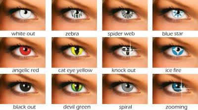 Soczewki kontaktowe kolorowe.