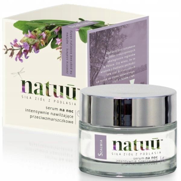 Serum na noc z ekstraktem z szałwii NATUU