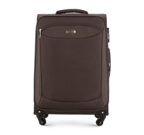 Brązowa walizka podróżna