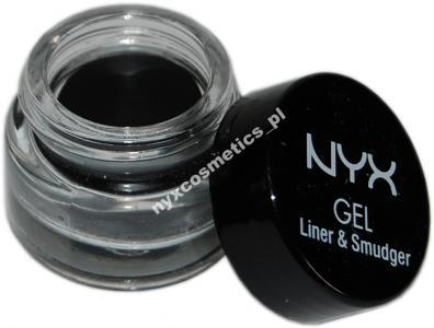 NYX Gel Liner and Smudger Eyeliner w żelu czarny