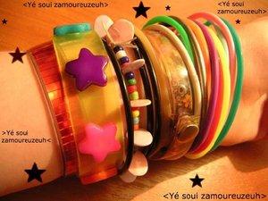 kolorowe branzoletki