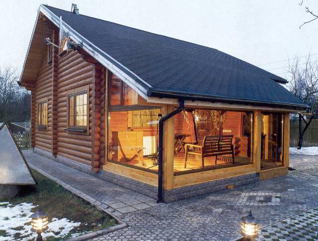 Dom drewniany dla rodziców