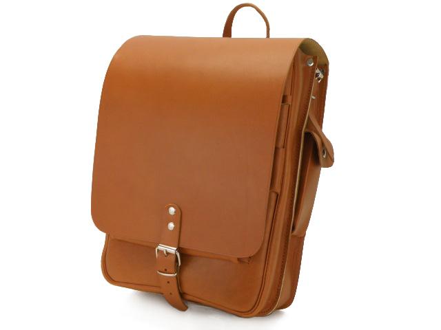 Listonoszka - teczka raportówka z naturalnej skóry z opcja plecaka
