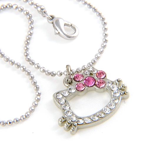 diamentowy łańcuszek Hello Kitty