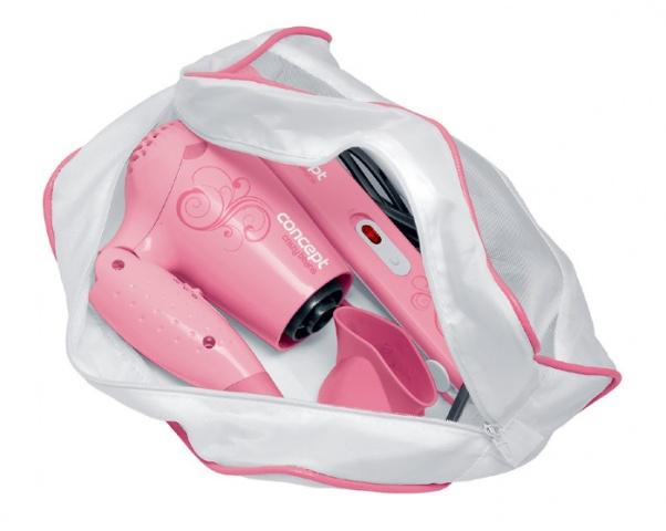 Prostownica +suszarka +kosmetyczka różowa