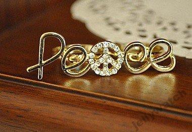 pierścionek peace
