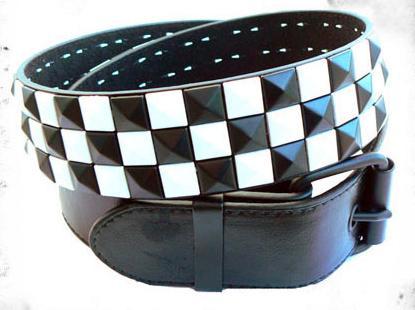 Pasek szachownica czarno-biała
