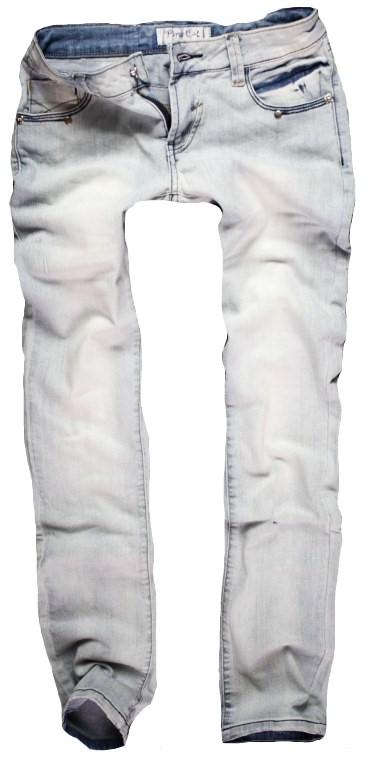 Jeansowe jasne rurki