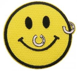 naszywka PIERCING SMILEY