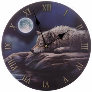 Zegar z wilkiem