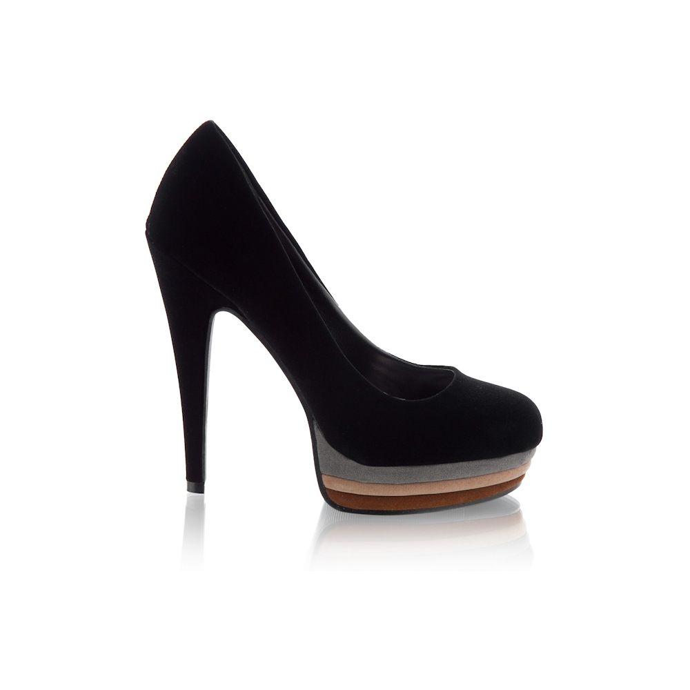 Ginette LLW1 Black Pumps