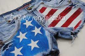 Krótkie spodenki z flagą USA