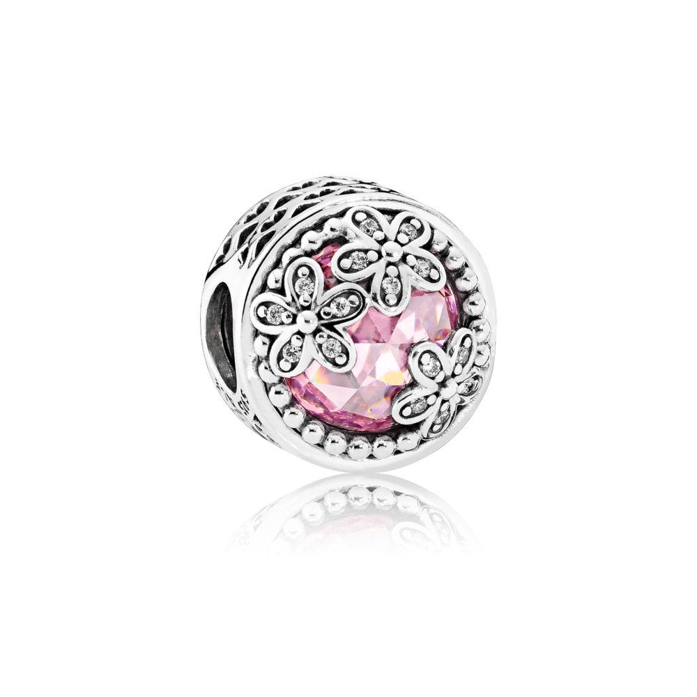 PANDORA Charms Różowe stokrotki