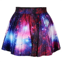 Harajuku Star Galaxy High Waist Skirt