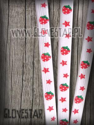 sznurówki truskawki stars białe