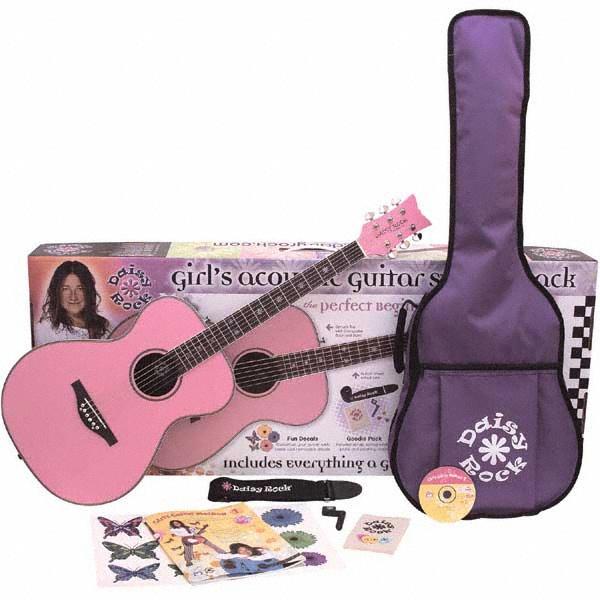 różowa gitara akustyczna