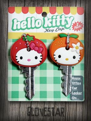 Nakładki na klucze HELLO KITTY owoce