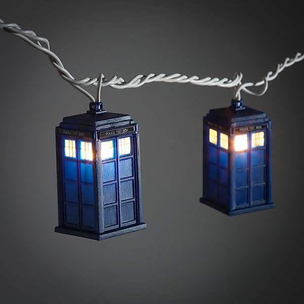 Światełka choinkowe w kształcie TARDIS