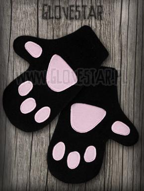 rękawiczki KOCIE ŁAPKI czarne
