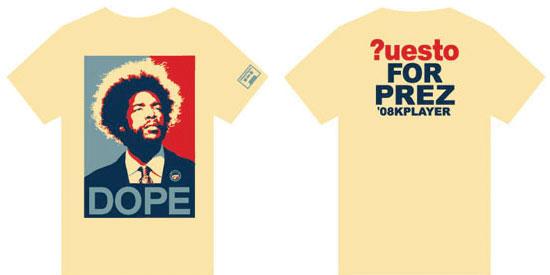 DOPE ?uestlove shirt size L