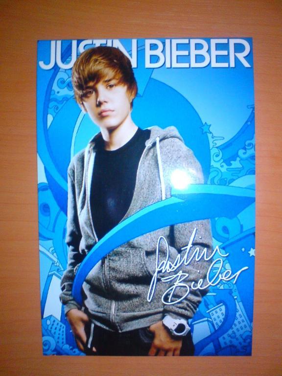 Zdjęcie z autografem Justina Bieber'a