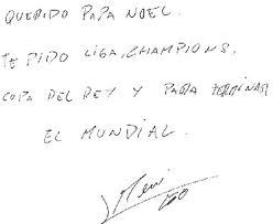 Autograf  Messiego .