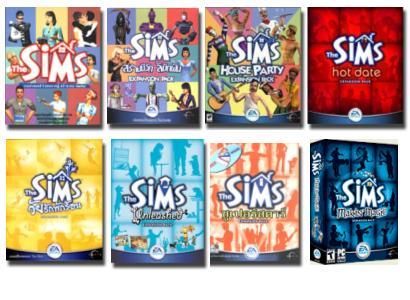 Wszystkie części gry The sims