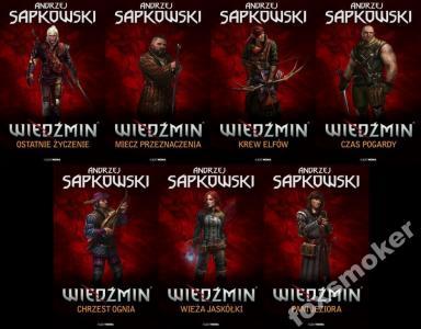 WIEDŹMIN - ANDRZEJ SAPKOWSKI - KOMPLET 7 TOMÓW