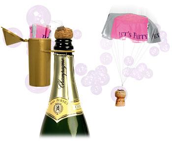 Spadochron na korek od szampana