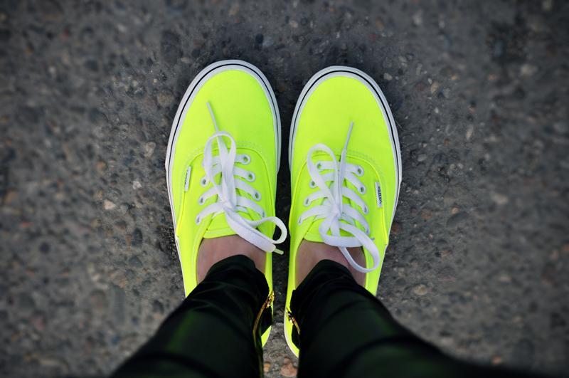 Vans vansy neon trampki