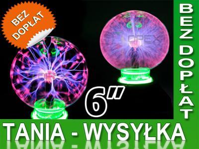 KULA PLAZMOWA LAMPA PLAZMA 6 CALI LAMPKA NEON