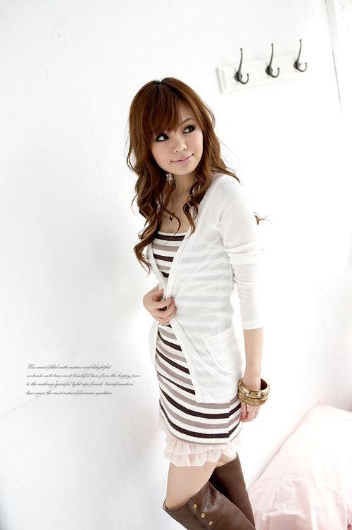 Biały sweterek Japan Style