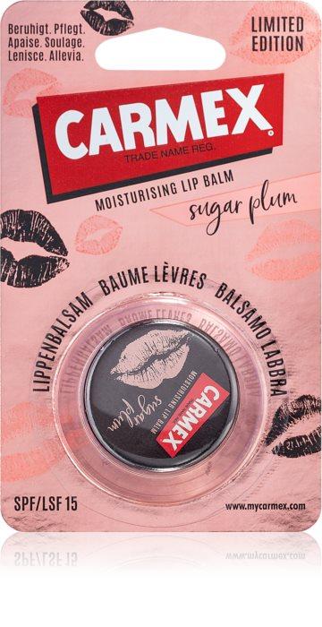 Carmex – Edycja limitowana – Balsam do ust w słoiczku – Sugar Plum