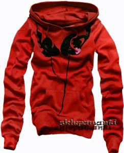 Firmowa czerwona bluza sluchawki EMO SKATE 36 S
