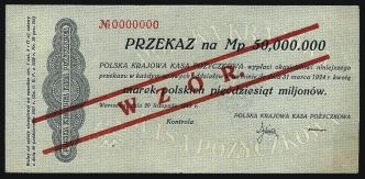 50 mln marek polskich 20.XI.1923