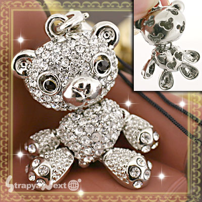 Swarovski Jewelry Bear Cell Phone Strap