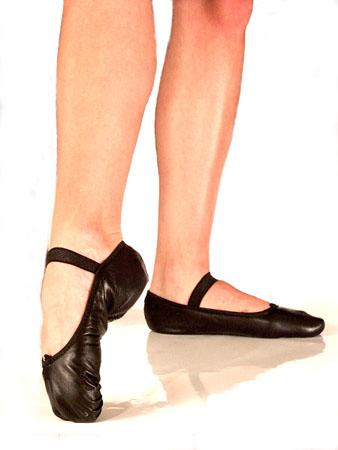 Czarne baletki skórzane (rozm.41)