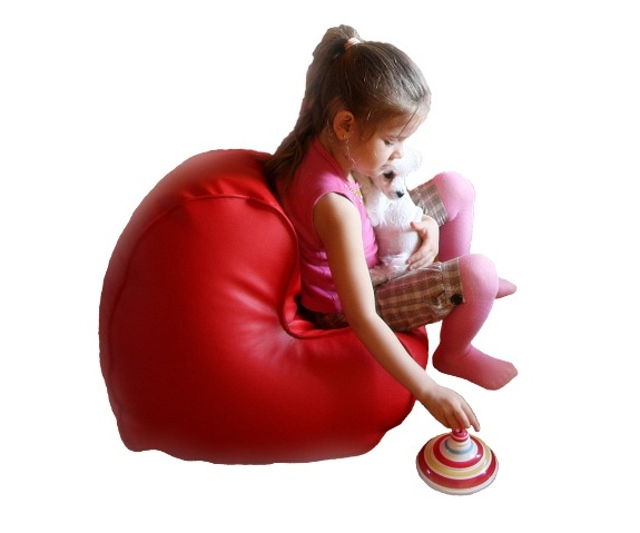 pufa relaksacyjna FUNNY Serce Mini - poducha do siedzenia