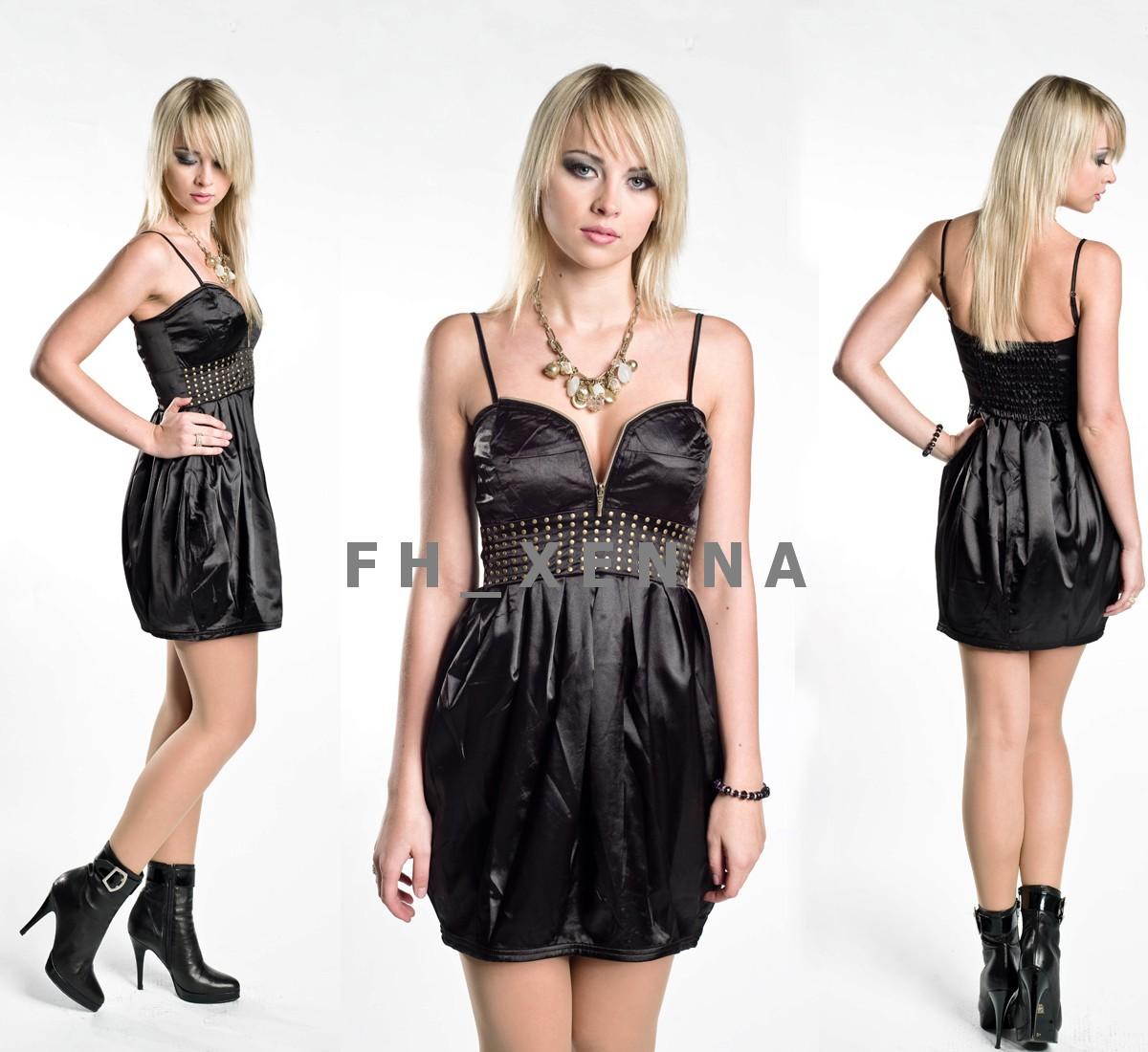 Czarna sukienka z nitami