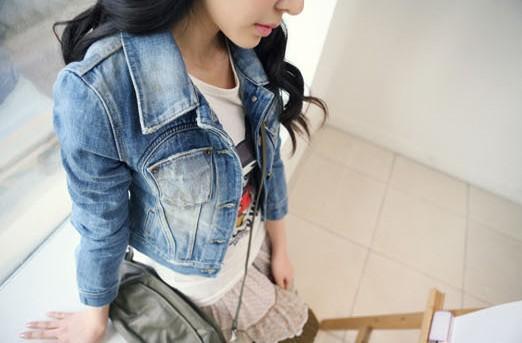 Kurtka jeansowa ramoneska