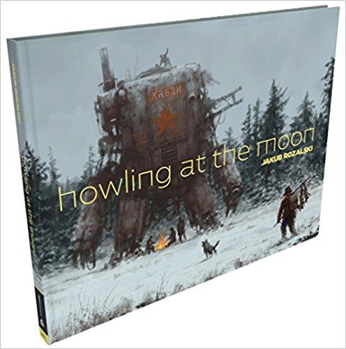 Jakub Różalski - Howling at the Moon