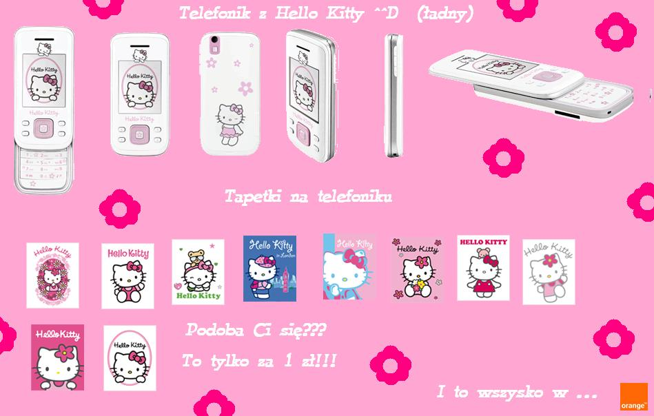 Telefon z Hello Kitty