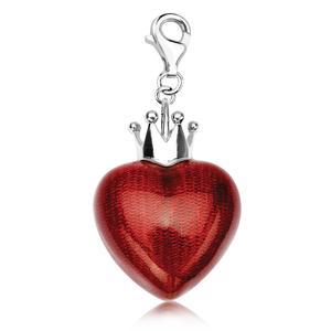 Charms serce z koroną