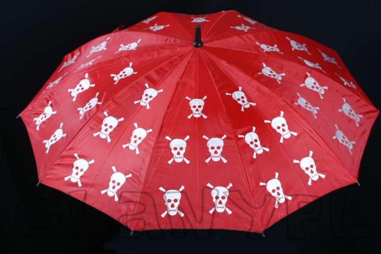 parasol emo w czachy