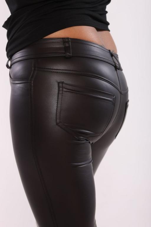 Blyszczace legginsy z kieszeniami