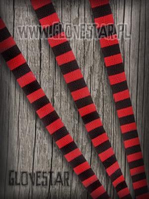 sznurówki paski czarno-czerwone