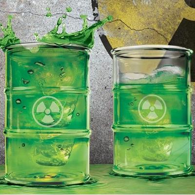 radioaktywne szklanki