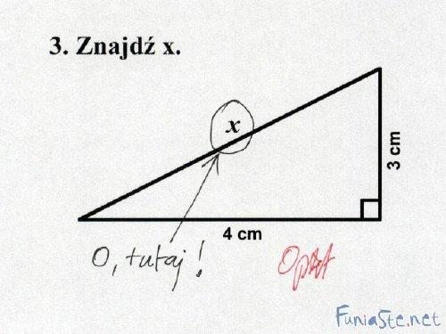 pozytywna ocena ze sprawdzianu z matematyki